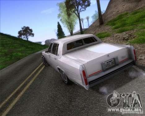 Cadillac Fleetwood Brougham 1985 para GTA San Andreas left