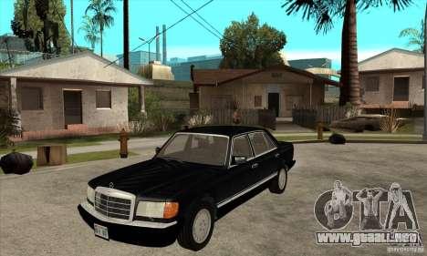 Mercedes Benz W126 560 v1.1 para GTA San Andreas