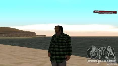 New skin Grove HD para GTA San Andreas tercera pantalla