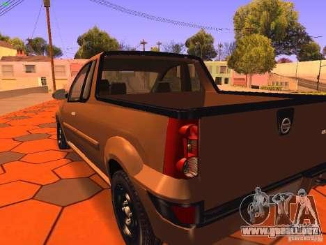 Nissan NP200 para GTA San Andreas vista hacia atrás