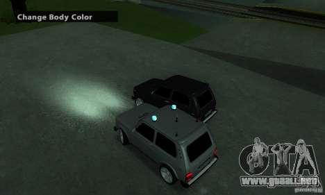 FBI NIVA VAZ 21213 para GTA San Andreas vista posterior izquierda