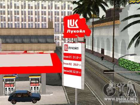 La gasolinera Lukoil para GTA San Andreas tercera pantalla