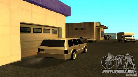Huntley Sport para GTA San Andreas vista posterior izquierda
