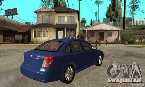 Chevrolet Optra 2011 para la visión correcta GTA San Andreas