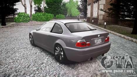 BMW 3 Series E46 v1.1 para GTA 4 Vista posterior izquierda