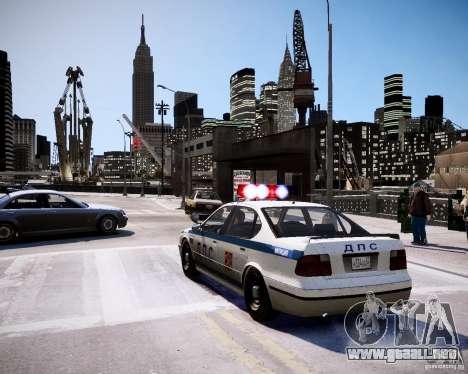 Russian Police Patrol para GTA 4 Vista posterior izquierda