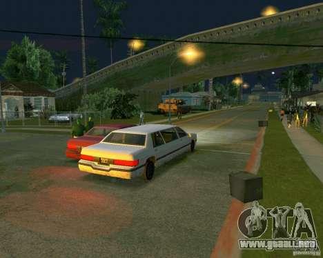Elegant Limo para GTA San Andreas vista posterior izquierda