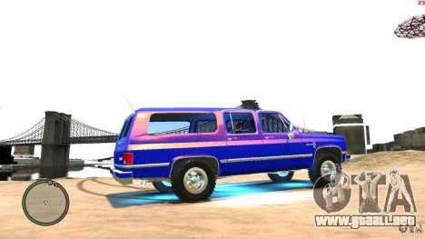 Chevrolet Suburban 1986 para GTA 4 vista hacia atrás