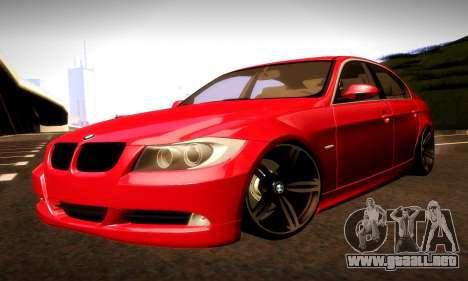 BMW 330 E90 para vista inferior GTA San Andreas