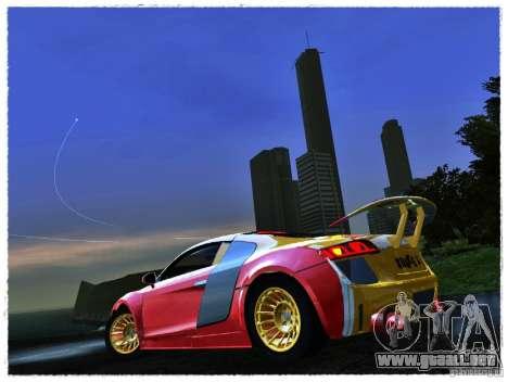 Audi R8 Calibri-Ace para GTA San Andreas vista posterior izquierda