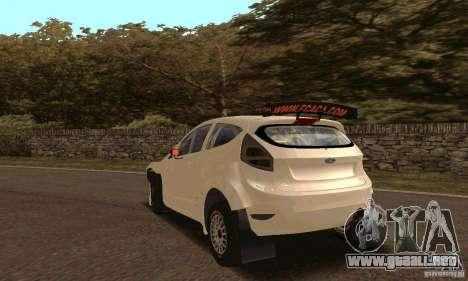 Ford Fiesta Rally para vista lateral GTA San Andreas