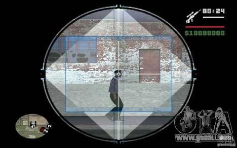 Francotirador mod v. 2 para GTA San Andreas tercera pantalla