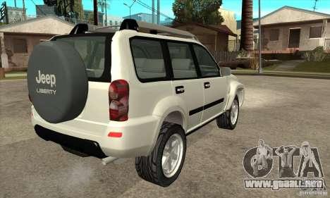 Jeep Liberty 2007 para la visión correcta GTA San Andreas