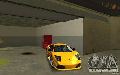 Lamborghini Murcielago LP640 para GTA Vice City vista posterior