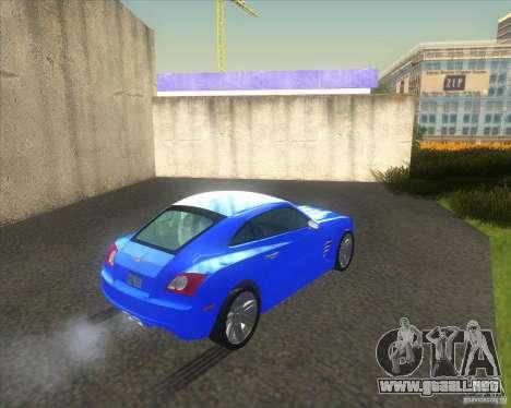 Chrysler Crossfire para GTA San Andreas vista posterior izquierda