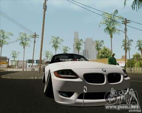 BMW Z4 Hellaflush para visión interna GTA San Andreas
