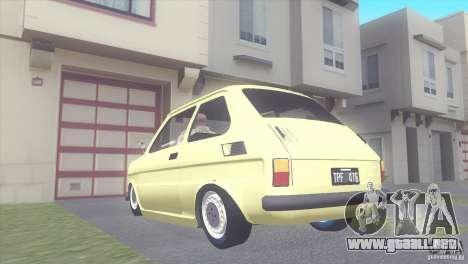 Fiat 126 para GTA San Andreas left