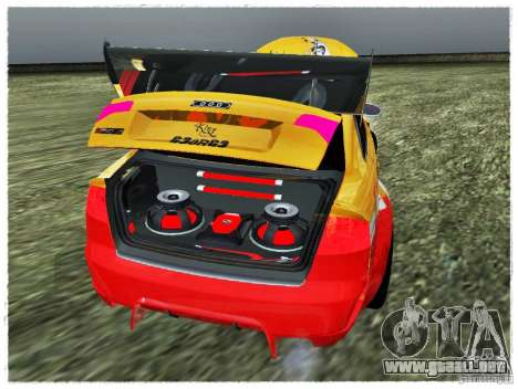 Audi RS4 Calibri-Ace para GTA San Andreas vista hacia atrás