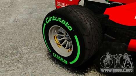 Ferrari F2012 para GTA 4 vista hacia atrás