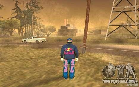 Red Bull Clothes v1.0 para GTA San Andreas sucesivamente de pantalla