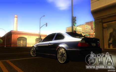 BMW M3 E46 V.I.P para GTA San Andreas vista posterior izquierda