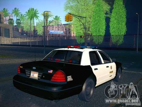 Ford Crown Victoria Police Intercopter para GTA San Andreas left