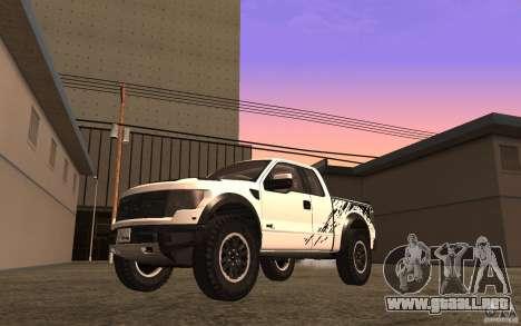 Ford F150 SVT RapTor para vista lateral GTA San Andreas