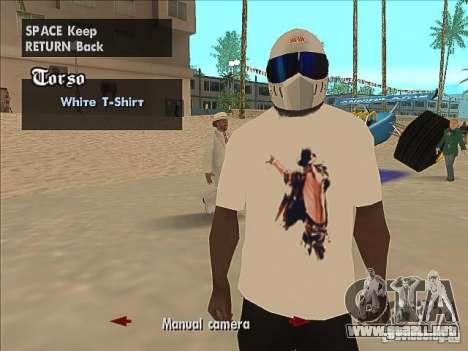 Una camiseta con una foto de Michael Jackson para GTA San Andreas