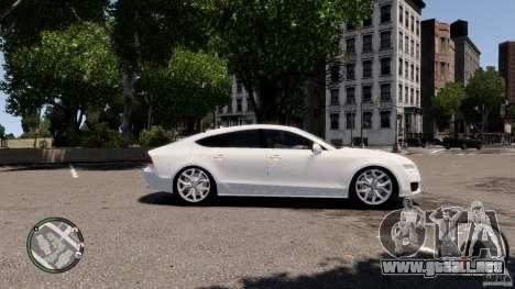 Audi A7 Sportback para GTA 4 vista hacia atrás
