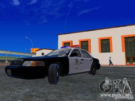 Ford Crown Victoria San Andreas State Patrol para GTA San Andreas left
