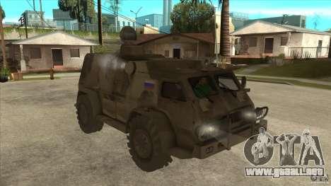 GAZ 39371 Vodnik para GTA San Andreas vista hacia atrás