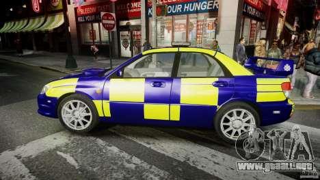 Subaru Impreza WRX Police [ELS] para GTA 4 left