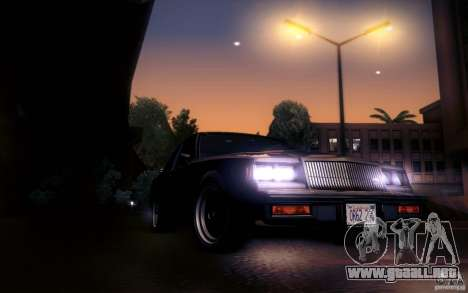Buick Regal GNX para visión interna GTA San Andreas