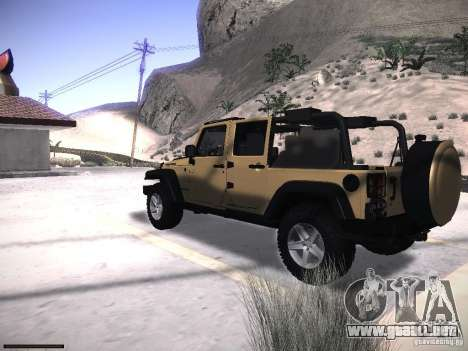 Jeep Wrangler Rubicon Unlimited 2012 para GTA San Andreas left