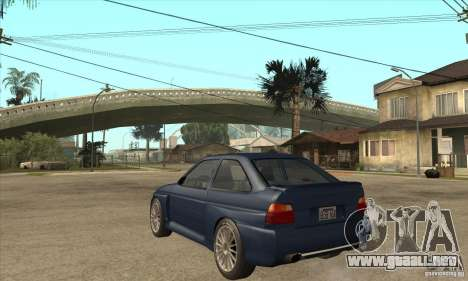 Ford Escort RS Cosworth para visión interna GTA San Andreas