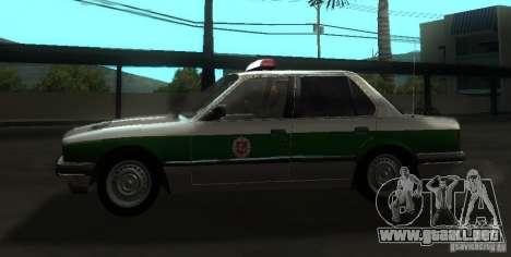 BMW E30 Sedan Police para GTA San Andreas left