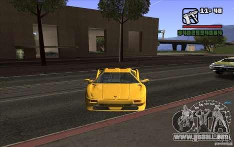 Lamborghini Diablo SV para GTA San Andreas left