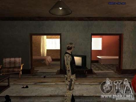 Army Soldier Skin para GTA San Andreas quinta pantalla