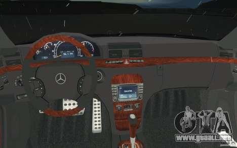 Mercedes-Benz S-Klasse para la vista superior GTA San Andreas