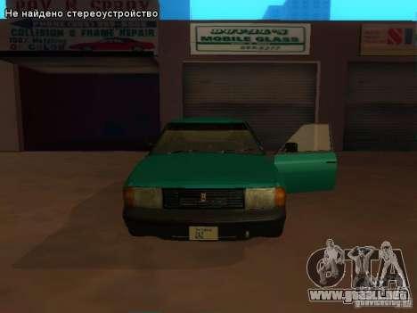 Moskvich 2141 para vista inferior GTA San Andreas