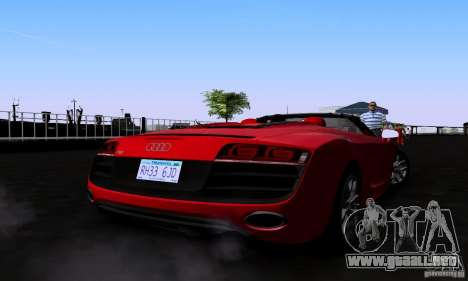Audi R8 Spyder para GTA San Andreas left