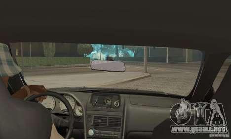 Nissan Skyline R-34 GTR para visión interna GTA San Andreas
