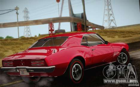 Pontiac Firebird 400 (2337) 1968 para vista inferior GTA San Andreas