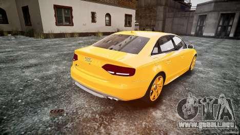 Audi S4 2010 para GTA 4 Vista posterior izquierda