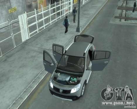 Renault Sandero v2.0 para GTA 4 vista interior