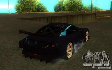Nissan Skyline R35 GTR para vista lateral GTA San Andreas