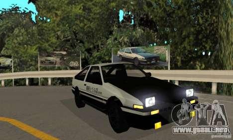 Toyota Sprinter Trueno GT-APEX AE86 83 Initial D para GTA San Andreas left