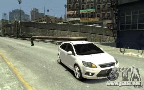 Ford Focus 2009 para GTA 4 vista hacia atrás