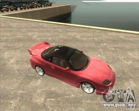 Mitsubishi FTO VeilSide para GTA San Andreas vista posterior izquierda