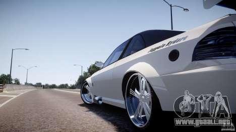 Sultan RS 3.0 para GTA 4 Vista posterior izquierda